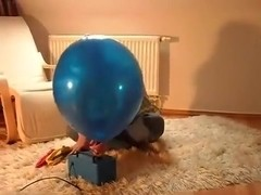 Sit to pop some bigger balloons
