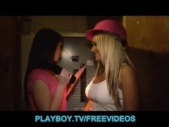 Overworked golden-haired lesbo acquires a call from an ex-girlfriend