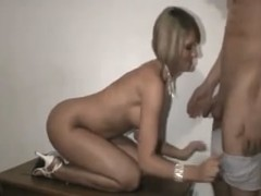Hawt blond girlfriend shared and screwed by ally on episode tape