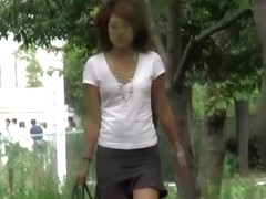 Innocent oriental babe gets really surprised while being involved in sharking