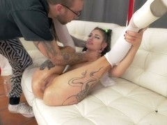 Luna Lovely & Bryan Gozzling & Bryan Gozzling in Squirting Luna's Farting Butt Fuck - EvilAngel