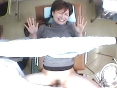 Curvy toy in a hairy vagina during kinky Gyno exam