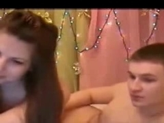 Hot teen gives a bj inforn of camera porn