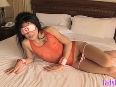 Ladyboy nurse blowjob and ass fucking in different positions