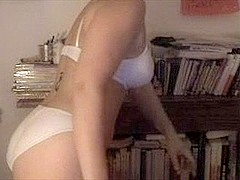 Amateur Web Camera - Black Brown Disrobes Down To Panties