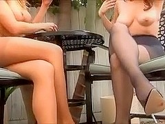 Randy Moore and Freind smokin' in pantyhose
