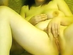 Fooling around with a dildo at home