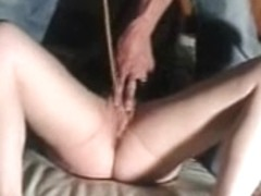 Non-Professional pussy flogged and caned