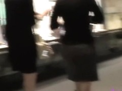 Indoor sharking encounter with two pretty bimbos receiving unexpected gift