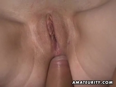 Breasty dilettante 1st anal scene on camera