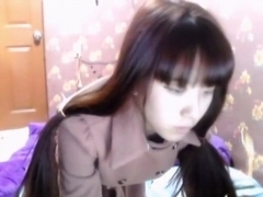 Peep! Live chat Masturbation! Full view is muff of Korea Hen skinny angel