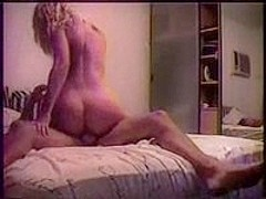 College girl loves to play house