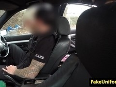 Bigtit brit rimmed and fucked outdoors by cop