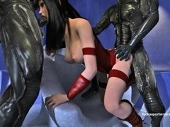 The sexy naughty Electra gets Invaded