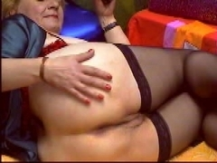 Mature amateur masterbating hard with a sex toy
