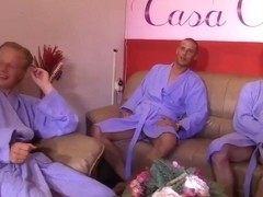 dutch masseuse getting fucked by three guys