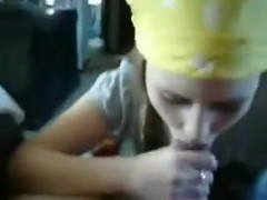 Valuable oral job from a captivating  immature