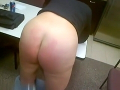 Round bottom is ready for spanking