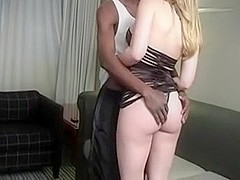 Hawt blond large breasts takes a bbc