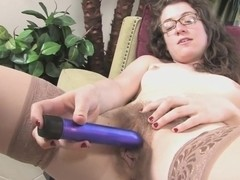 Mahonia spreads her legs and masturbates