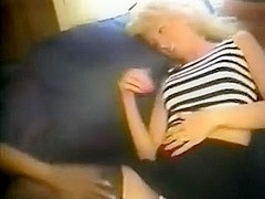 A agreeable golden-haired wife is drilled by a mate with his bbc