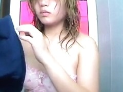 Asian woman full shower video