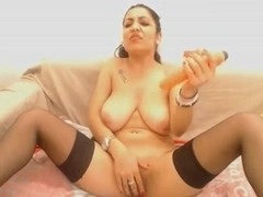 Arabian Very slut masturbate on cam with toy