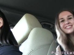 Hitchhiking amateur fucks for cash