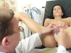 Latin Babe Victoria Rose gyno exam with speculum