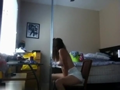 Posing for my webcam fans at home