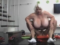 Golden-Haired big beautiful woman-Mother I'd Like To Fuck screwed by juvenile Man