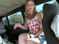 Stripper Abbie Anderson Gets Naked On The Bang Bus