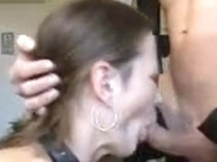Sloppy deepthroat given by my expert cock sucker wife