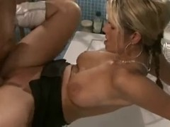 Breasty German Golden-Haired Drilled in Baths - bostero