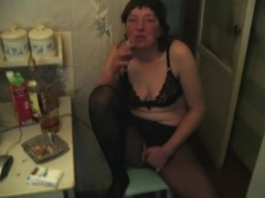 Crazy Amateur clip with Stockings, Russian scenes