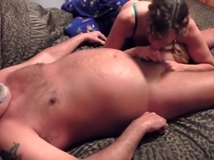 milf giving blowjob with cumshot