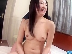 Yuu Sakura brunette model enjoys fat dick in her vagina