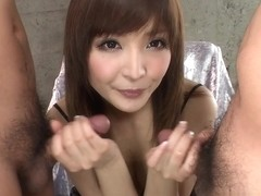 Riona Suzune hottest cock sucking babes hot toy insertion!