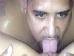 He licked her pussy so well she had to scream
