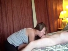 Mature lady loves sucking and fucking dick.