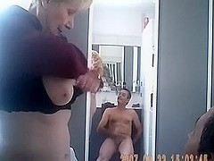 granny shows her mounds and copulates hubby