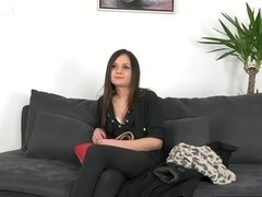 Euro casting with babe facialized after sucking