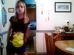 youthful floozy strips in her room by showing her hawt love muffins as this chick is all alone