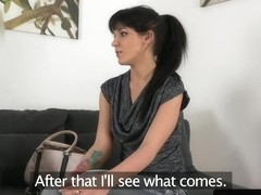 Auditioning euro pussyfucked before cumshot