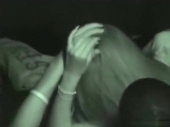 Voyeur tapes a girl sucking and jerking her bf in the cinema