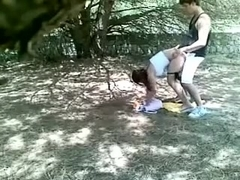 My dissolute and frisky girlfriend can't live without having sex outdoors