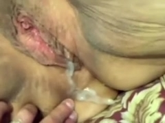 My short-haired large marvelous woman blondie gets creampied in POV clip scene