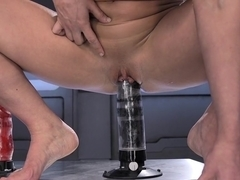 Incredible squirting, fetish xxx video with horny pornstar from Fuckingmachines