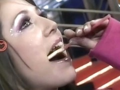 Video clip from a sexy TV show with girls and lollypops