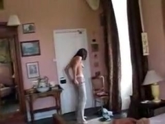 lady on a bed not wanting to be filmed tiffany